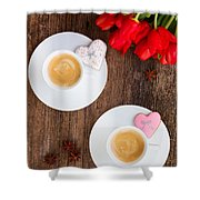 Coffee For Two Shower Curtain