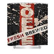 Coffee Fresh Brewed Shower Curtain