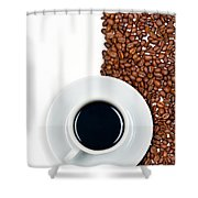Coffee Shower Curtain by Gert Lavsen