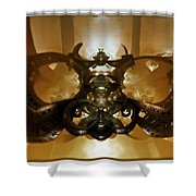 Coffee Glasses-looking-glass Shower Curtain