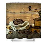 Coffee Grinder Shower Curtain