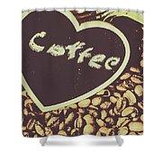 Coffee Heart Shower Curtain