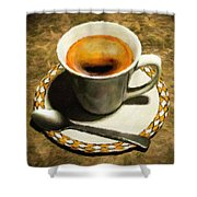 Coffee - Id 16217-152032-0430 Shower Curtain