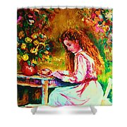 Coffee In The Garden Shower Curtain