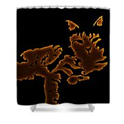 Coffee Kitty Shower Curtain
