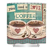 Coffee Love-jp3593 Shower Curtain