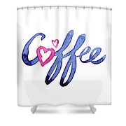 Coffee Lover Typography Shower Curtain