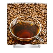 Coffee On Roasted Beans Shower Curtain