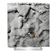 Coffee On The Rocks Shower Curtain