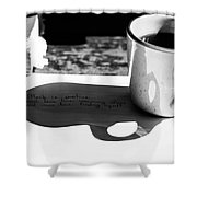 Coffee Poetry Shower Curtain
