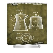 Coffee Pot Patent 1916 Grunge Shower Curtain