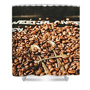 Coffee Service Scene Shower Curtain