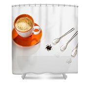 Coffee Sugar Cream Shower Curtain