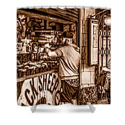 Coffee Time At The Station. Shower Curtain