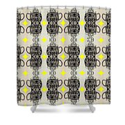 Coffee Time Patttern Shower Curtain