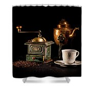 Coffee-time Shower Curtain