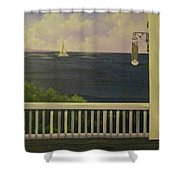 Coffee With A View Shower Curtain
