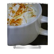 Coffee With Whipped Cream And Spices Shower Curtain