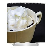 Coffee With Whipped Cream Shower Curtain