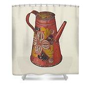 Coffeepot Shower Curtain