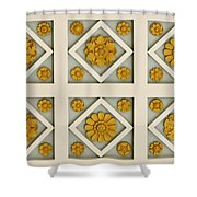 Coffered Ceiling Detail At Getty Villa Shower Curtain by Teresa Mucha