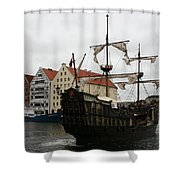 Cog On Wotlawa River Shower Curtain