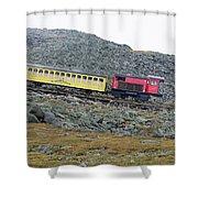 Cog Railway On Top Of Mt Washington Shower Curtain