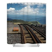 Cog Railway Stop Shower Curtain