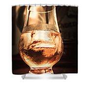 Cognac Glass On Bar Counter Shower Curtain