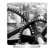 Cogs Shower Curtain by Greg Fortier