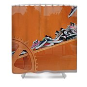 Cogs N Converse Shower Curtain
