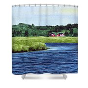 Cohansey River Shower Curtain