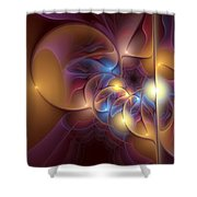 Coherence Of Desire Shower Curtain