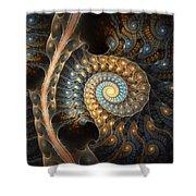 Coiled Spirals Shower Curtain