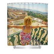 Coimbra Aerial Woman Shower Curtain