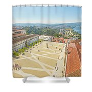 Coimbra University Aerial Shower Curtain