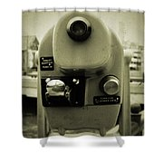Coin Operated Telescope Shower Curtain
