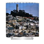 Coit Tower In San Francisco Shower Curtain