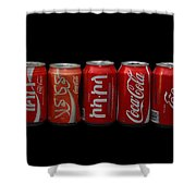Coke Cans Shower Curtain
