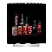 Coke From Around The World Shower Curtain