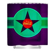 Coke N Lime Shower Curtain