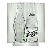 Coke Or Pepsi Black And White Shower Curtain