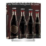 Coke Through Time Shower Curtain