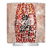 Coke Typography Shower Curtain