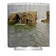 Cold Day At The Seaside. Shower Curtain