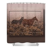 Cold And Blowing Snow Shower Curtain