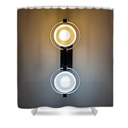 Cold And Warm Light Shower Curtain