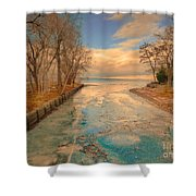 Cold And Warmth Shower Curtain