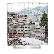 Cold Apple Crates Shower Curtain