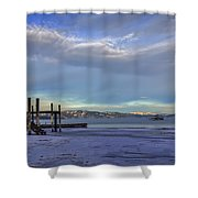 Cold Boat Ride Shower Curtain